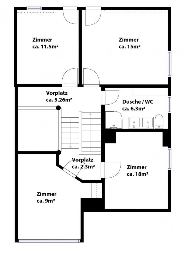 1. Obergeschoss / Dachgeschoss