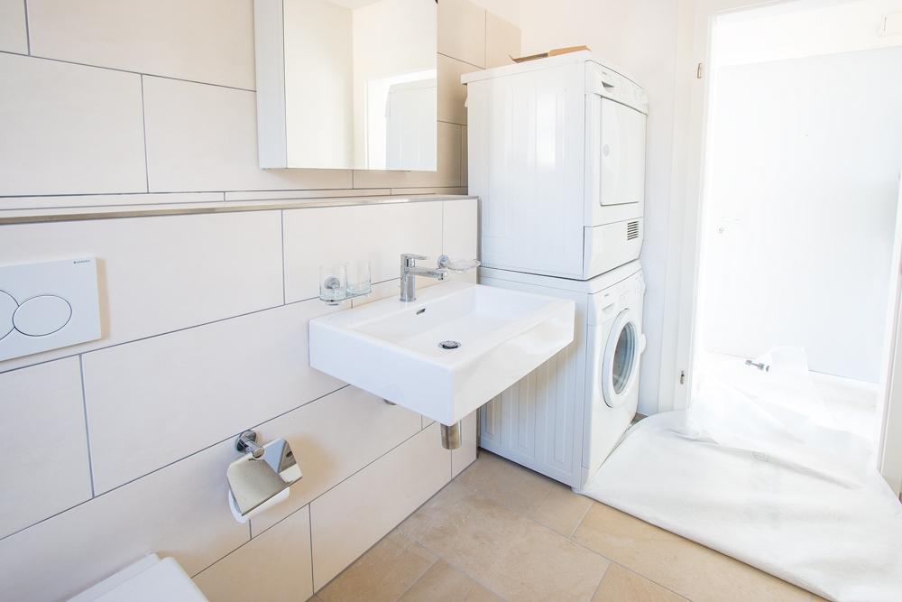Badezimmer mit Waschturm